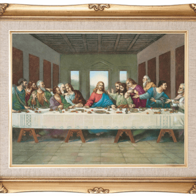 Cromo N B Milan Italy The Last Supper w/Gold Framed Picture