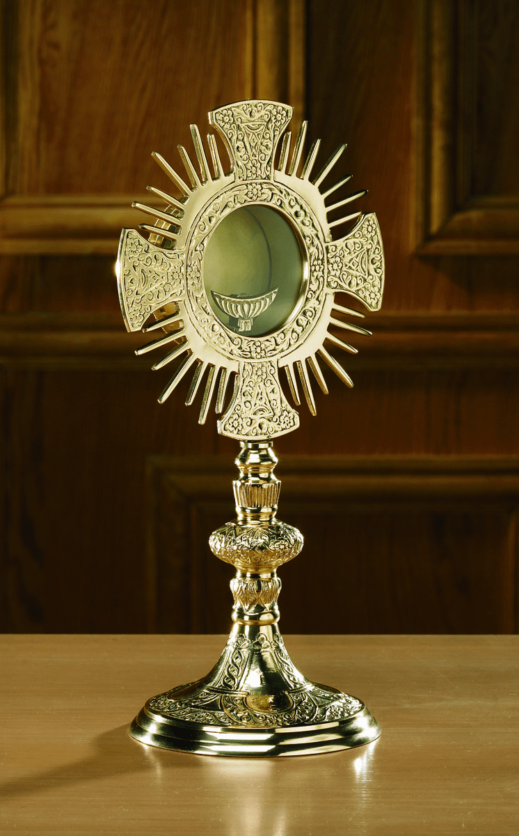 Cross and Rays Monstrance with Luna by Stratford Chapel