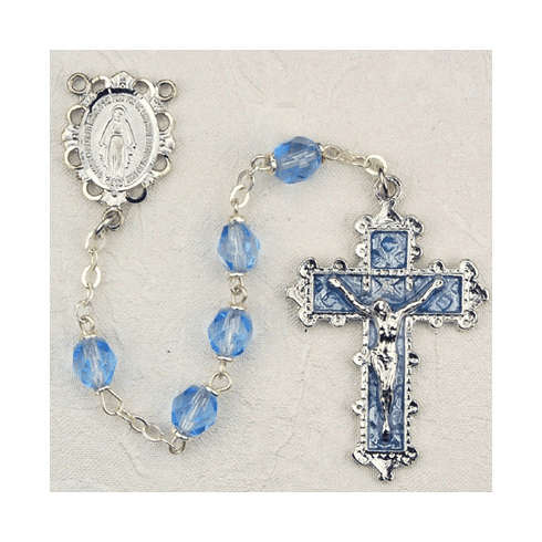 December Zircon Crystal Birthstone Prayer Rosary by McVan