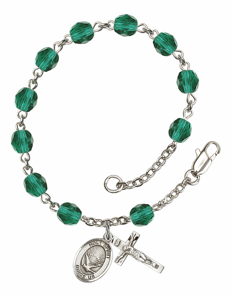 December Zircon Holy Spirit Birthstone Rosary Bracelet by Bliss