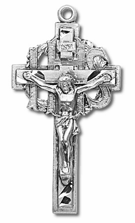 Detailed Sterling Silver Crucifix Rosary Part by HMH Religious