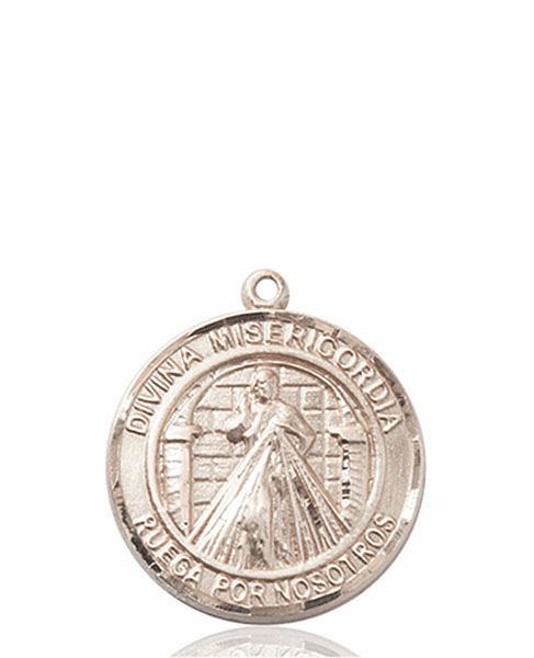 Divina Misericordia/Divine Mercy of Jesus Spanish Patron Saint 14kt Gold Medal by Bliss
