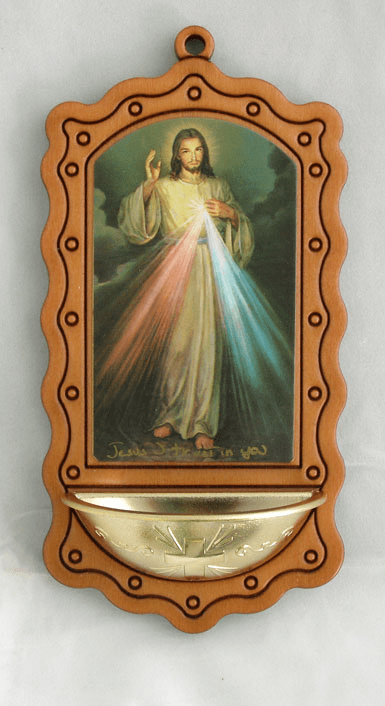 Divine Mercy Catholic Holy Water Font