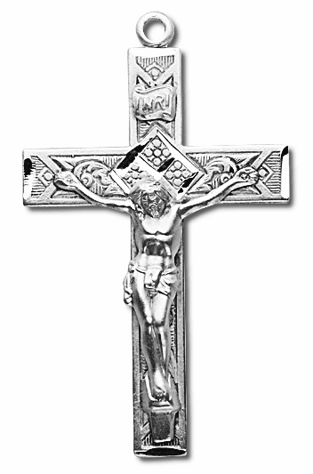 Elegant Sterling Silver Crucifix Rosary Part by HMH Religious