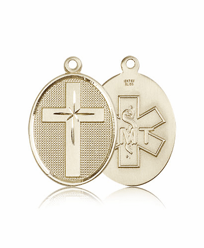 EMT Christian 14kt Gold  Cross Medal by Bliss