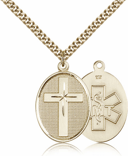EMT Christian Cross Pendant Necklace by Bliss Mfg