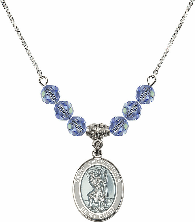 Epoxy St Christopher Beaded Necklace Jewelry