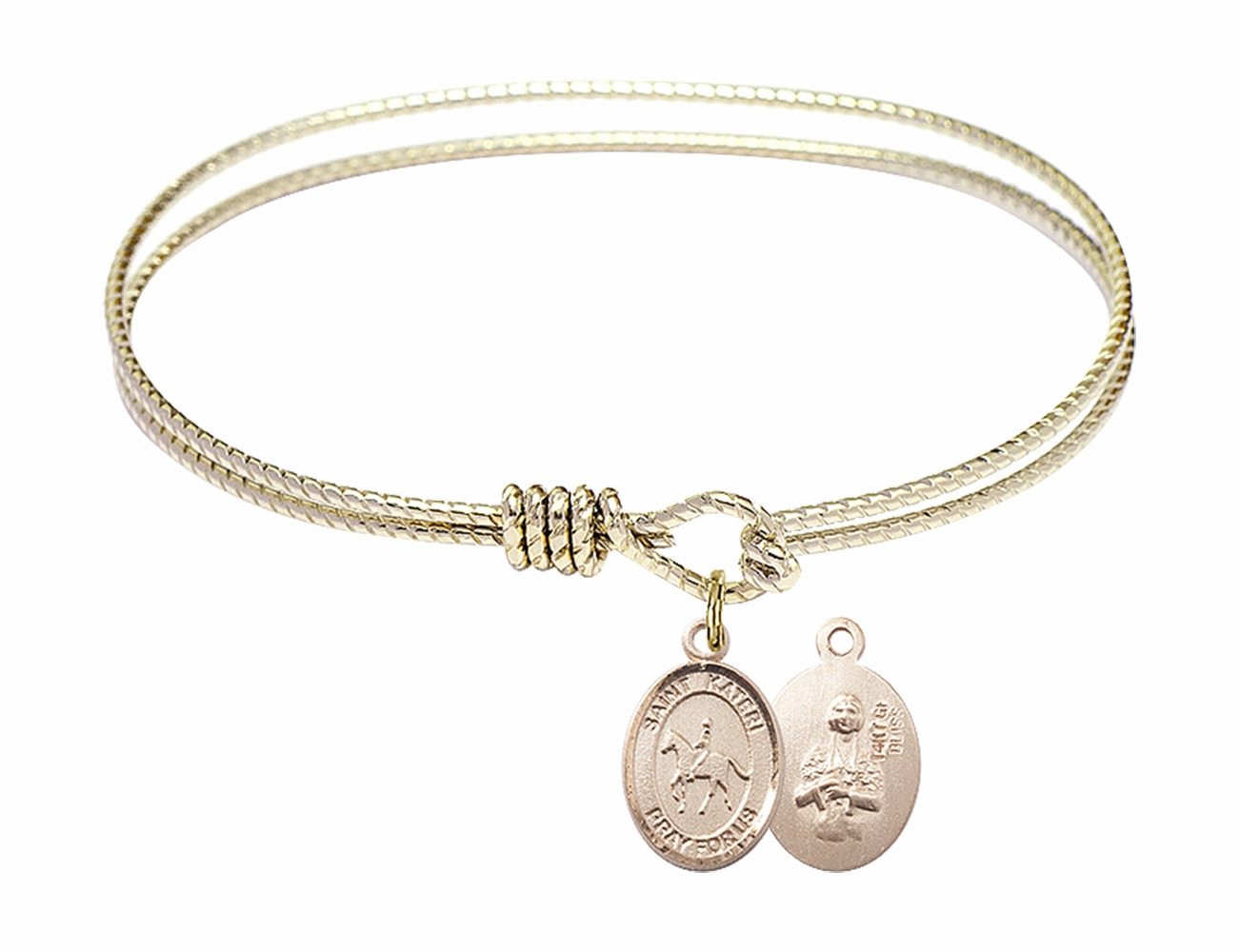 Equestrian St Kateri Rosary Bracelets and Charm Bangles