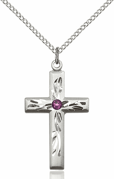 Etched Birthstone Swarovski Crosses
