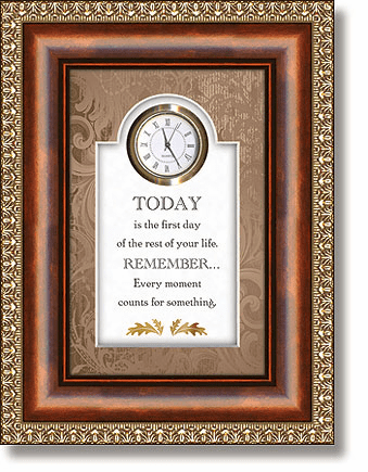 Every Moment Counts Tabletop Clock Framed under Glass by Heartfelt