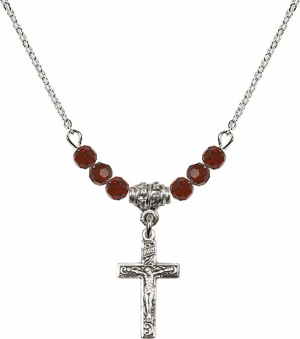 Fancy Crucifix Beaded Charm Necklaces