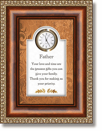 Father Tabletop Clock Framed under Glass by Heartfelt