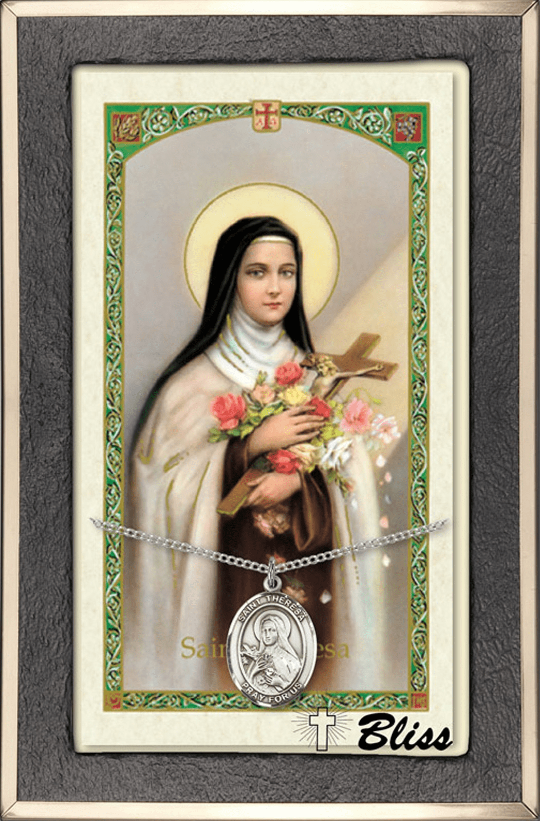 Female Patron Saint Prayer Card & Necklace Gift Sets