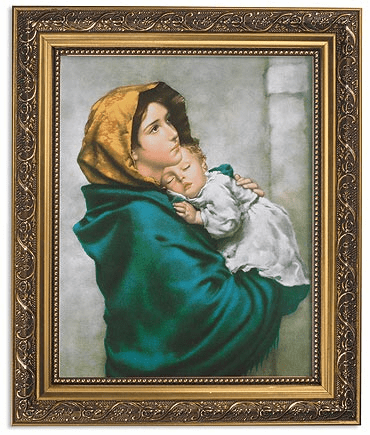 Ferruzzi Madonna of the Streets Framed Print Picture with Gold Frame by Gerffert