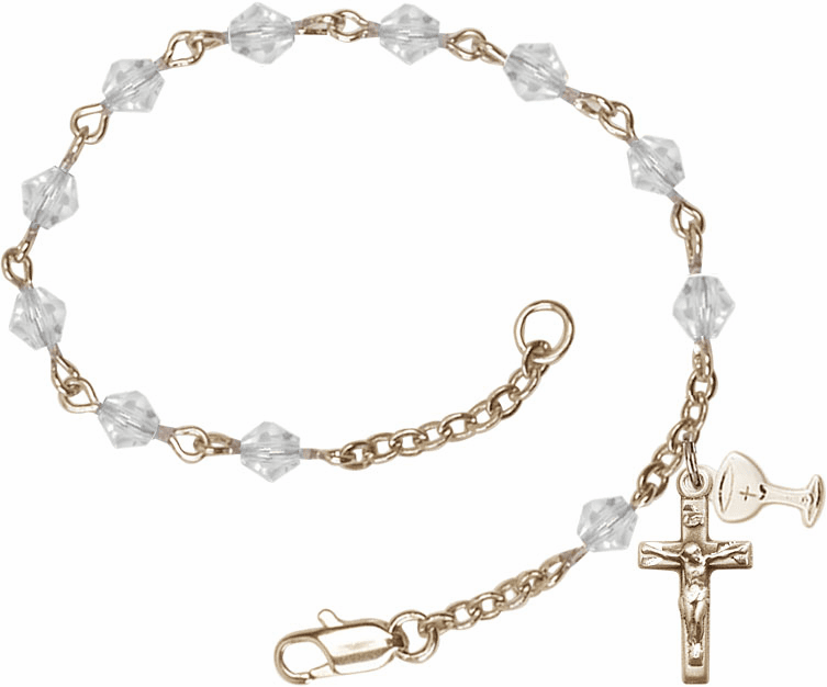 First Holy Communion Prayer Rosary Bracelets