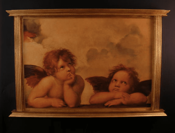 Florentine Angels by Raphael Wood Wall Plaque From Italy