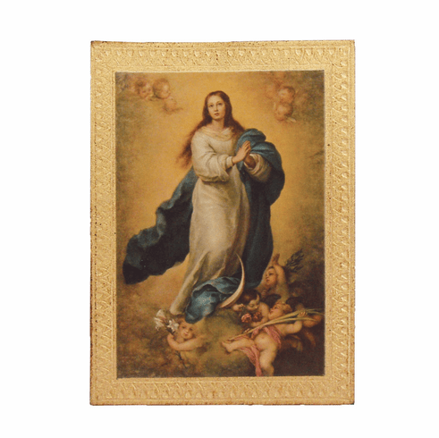 Florentine Immaculate Conception Print Wood Wall Plaque