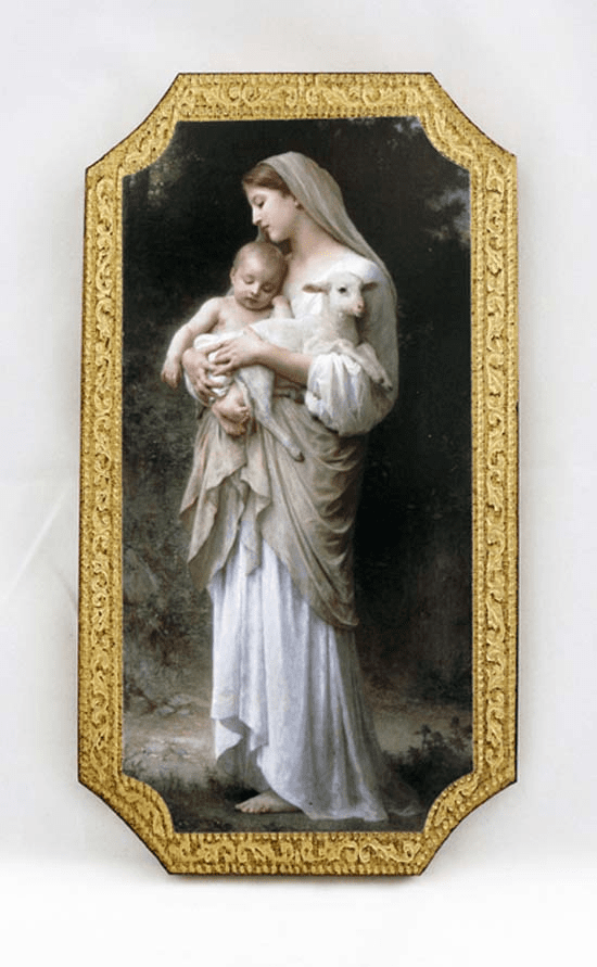 Florentine Innocence by Bouguereau Wood Wall Plaque