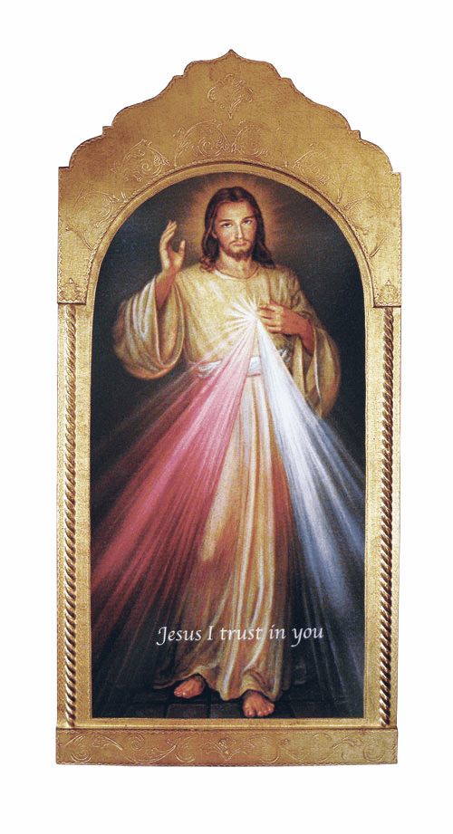 Florentine Jesus Divine Mercy Wood Wall Plaque From Italy