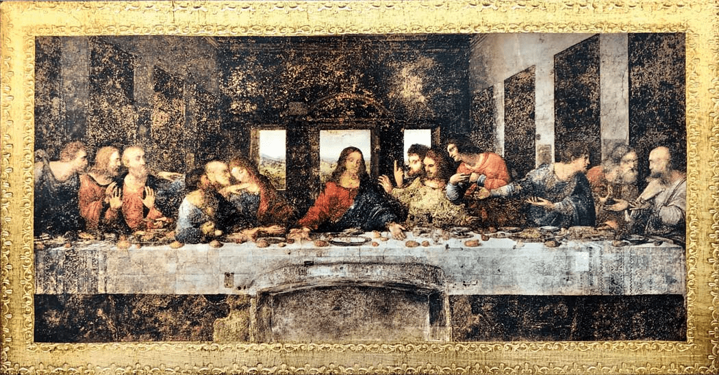 Florentine Last Supper by Da Vinci Wood Wall Plaque From Italy