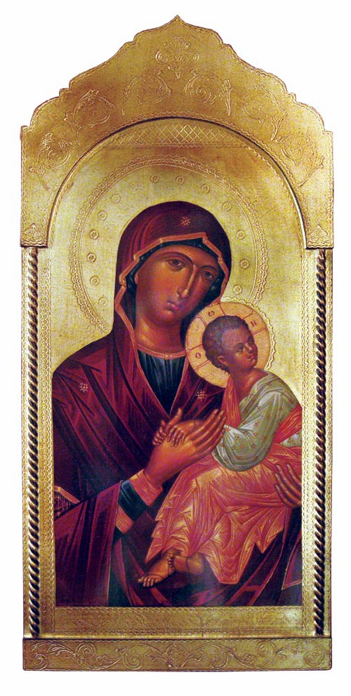 Florentine Madonna and Child Icon Wood Wall Plaque From Italy