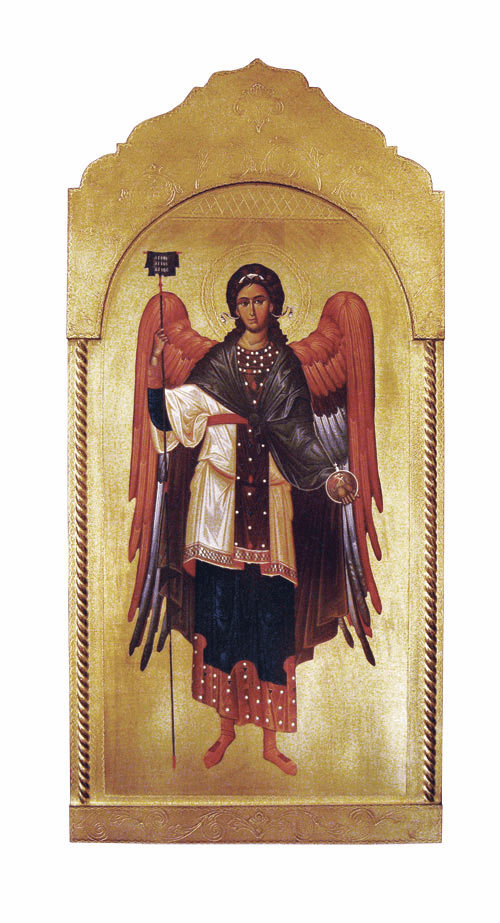 Florentine Saint Gabriel Archangel Wood Wall Plaque From Italy