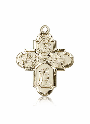 Franciscan 4-Way 14kt Gold Cross Medal