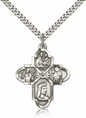 Franciscan 4-Way Sterling Silver Pendant Necklace by Bliss Mfg.