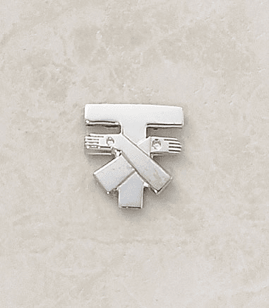 Franciscan Tau Sterling Silver Lapel Pin by Creed Jewelry