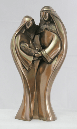Genesis Modern Bronze Holy Family Statue