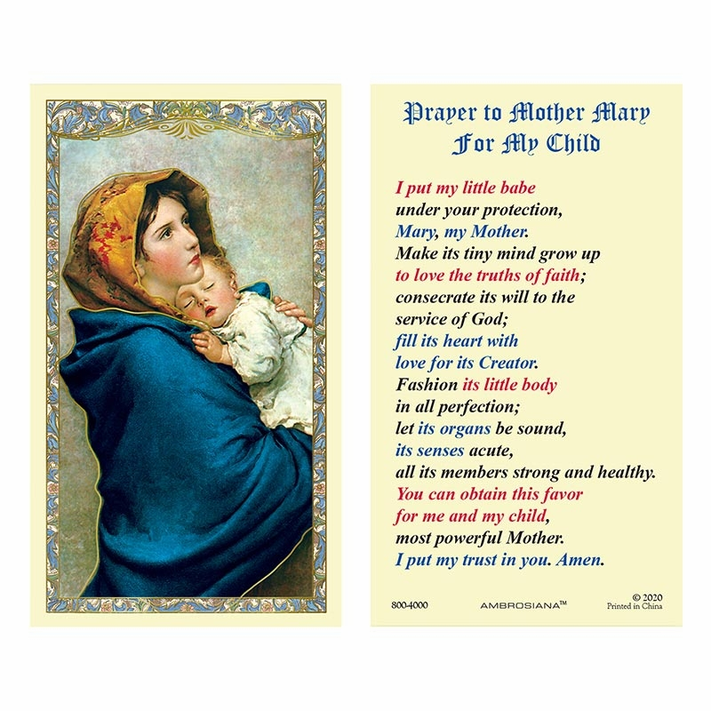 Gerffert Christ Madonna of the Streets Laminated Holy Card Set