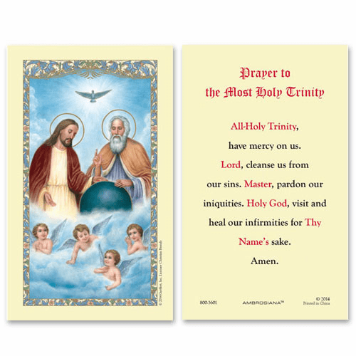 Gerffert Holy Trinity Prayer to the Most Holy Trinity Holy Card Set