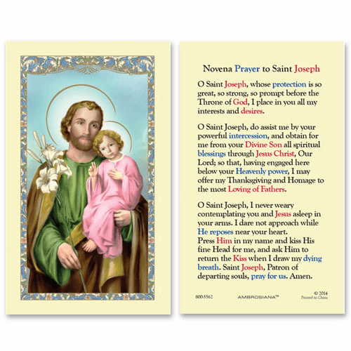 Gerffert Saint Joseph and Child 50th Year of Our Lord Holy Cards