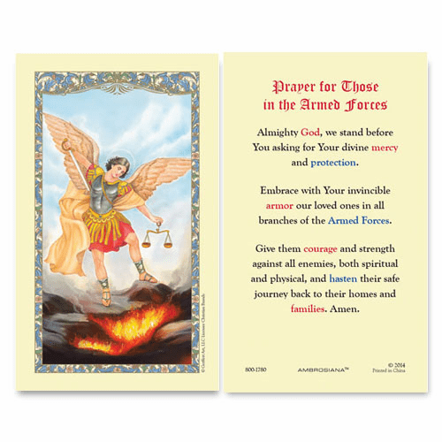 Gerffert St Michael Prayer for Those in the Service Holy Card Set