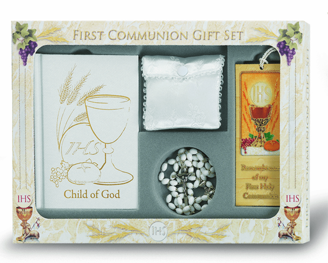Girl's 6 pc. Deluxe Catholic Communion Gift Set