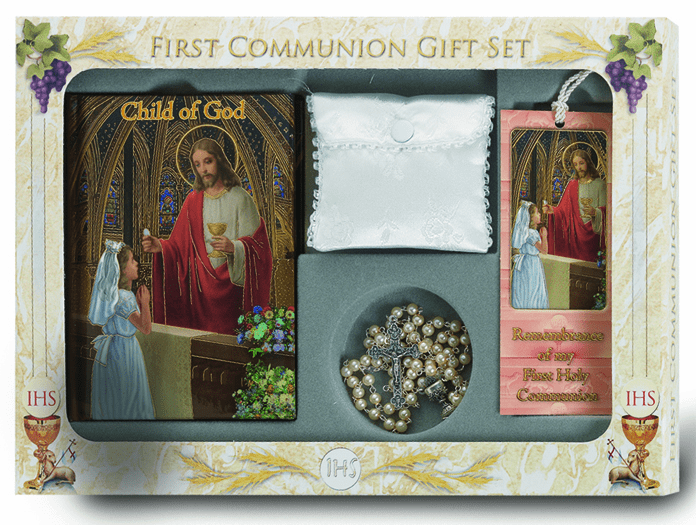 Girl's Boy's 6 pc. Deluxe Communion Gift Set