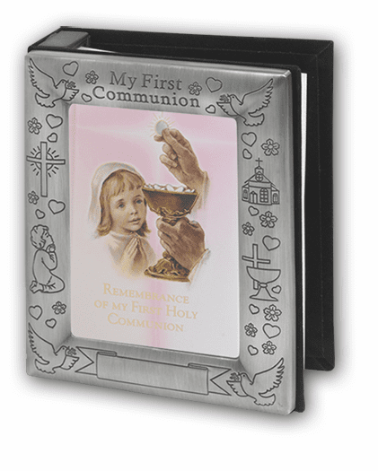 Girls Pewter First Holy Communion Photo Album by Hirten