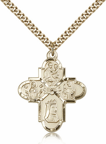 Blliss Manufacturing 14kt Gold Filled Franciscan 4-Way Pendant Necklace