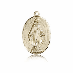 Gold Filled Miraculous Medals & Jewelry