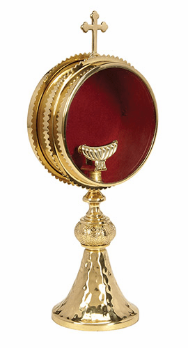 Gold Monstrance with Luna by Stratford Chapel
