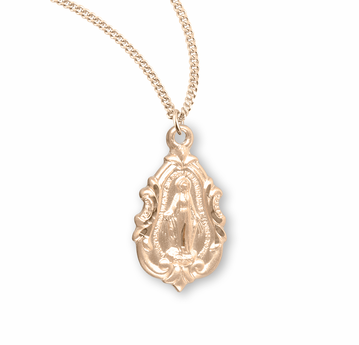 Miraculous Medal Gold/Sterling & Gold-plated Jewelry