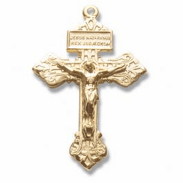 Gold/Sterling Silver Crucifix Section