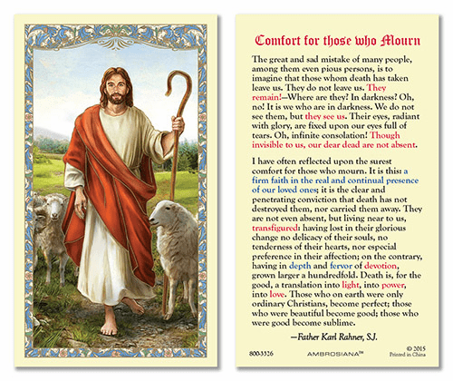Good Shepherd Comfort for Those Who Mourn Gerffert 25pkg Holy Cards