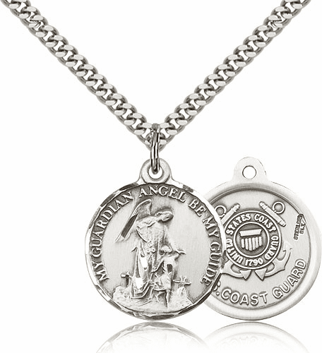 Guardian Angel Coast Guard Pewter Pendant by Bliss