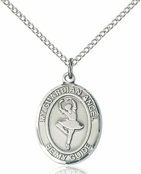Guardian Angel Dance Pewter Patron Saint Necklace by Bliss