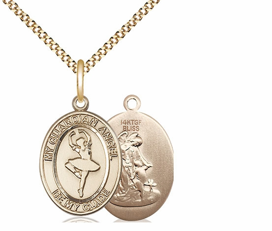 Guardian Angel Dance Sports 14kt Gold-Filled Pendant Necklace by Bliss
