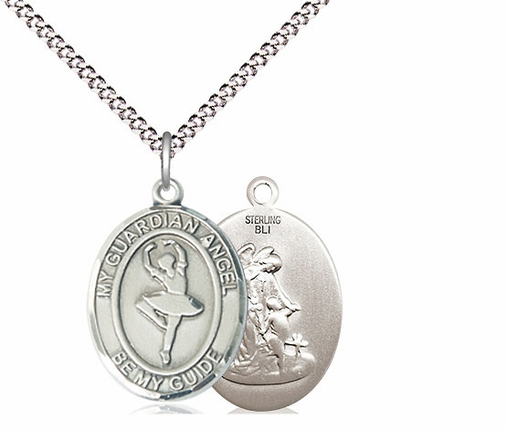 Guardian Angel Dance Sports Sterling Silver Pendant Necklace by Bliss