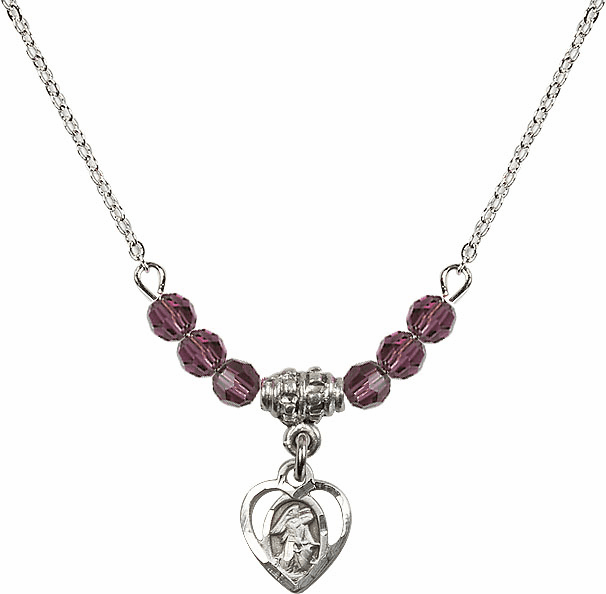 Guardian Angel Heart Beaded Charm Necklaces