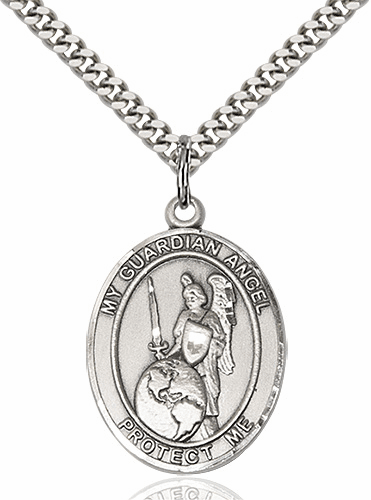 Guardian Angel of the World Patron Saint Medal Necklace by Bliss