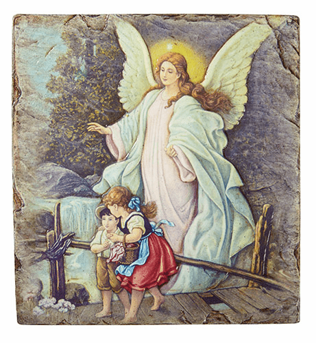 Guardian Angel on Bridge Marco Sevelli 8 x 10 Plaque by Sacred Traditions